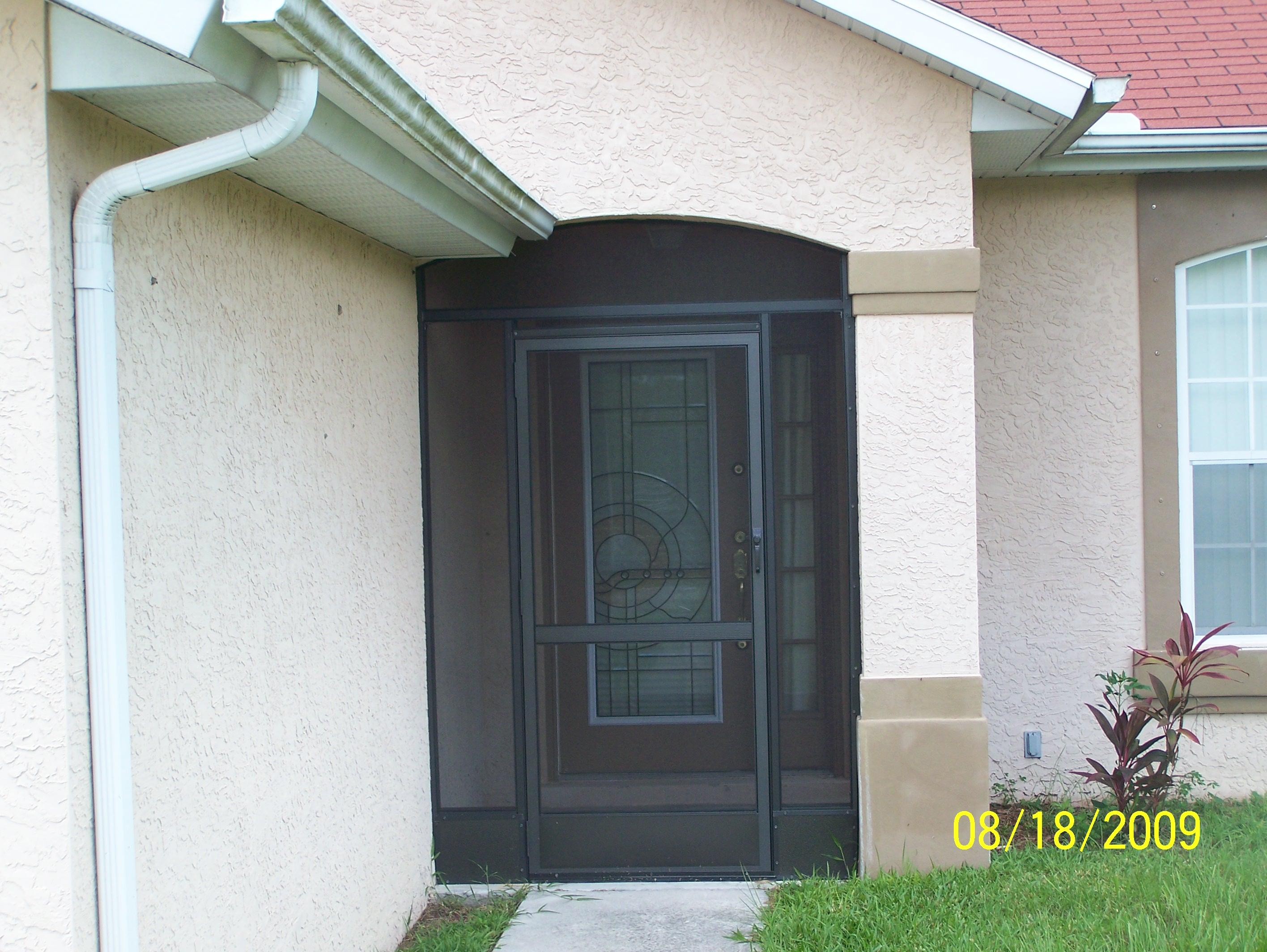 Front Bronze Door Screen